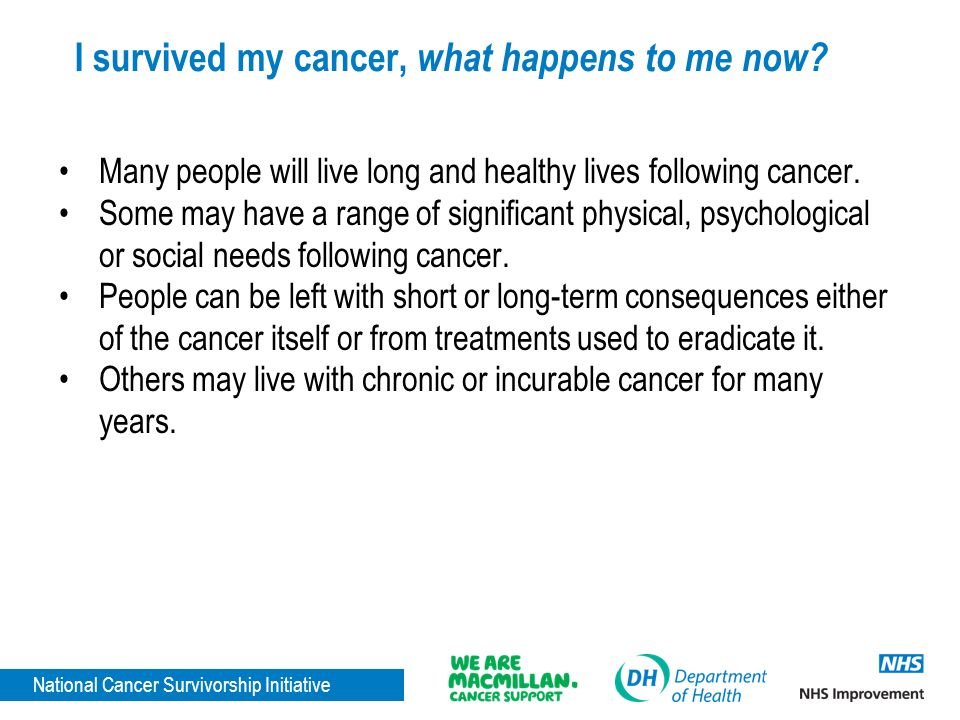I survived my cancer, what happens to me now