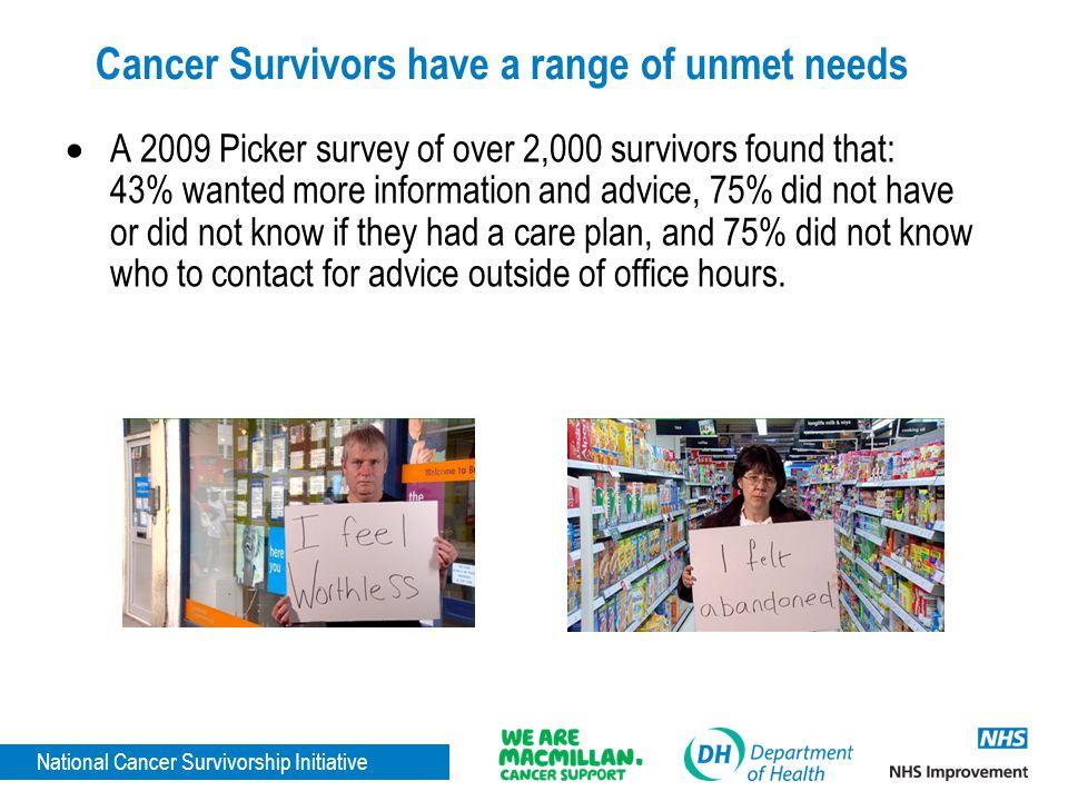 Cancer Survivors have a range of unmet needs
