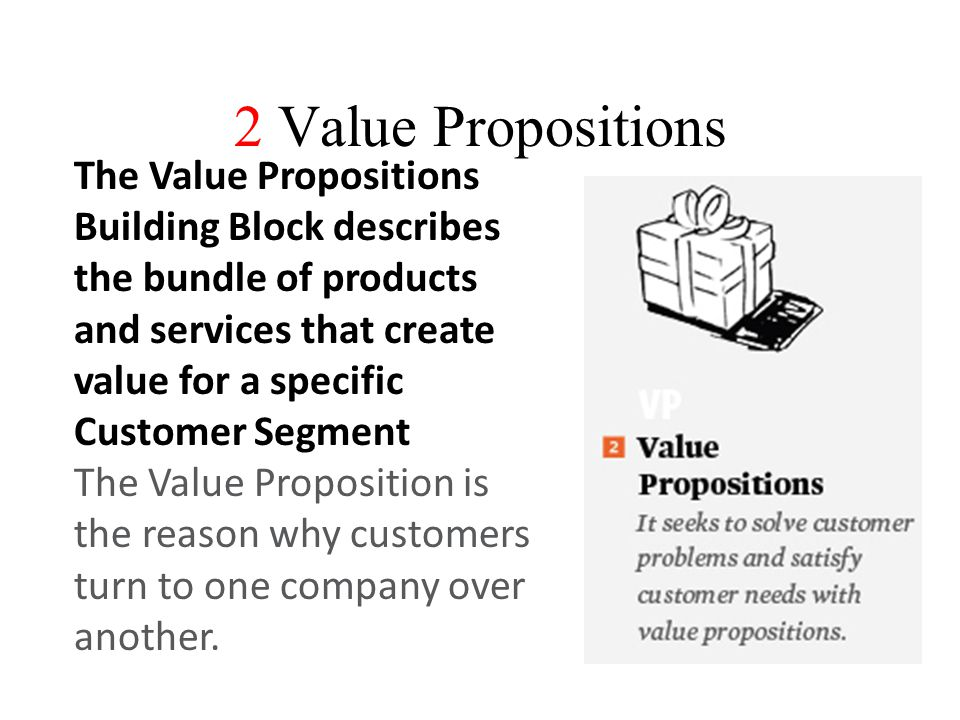 2 Value Propositions