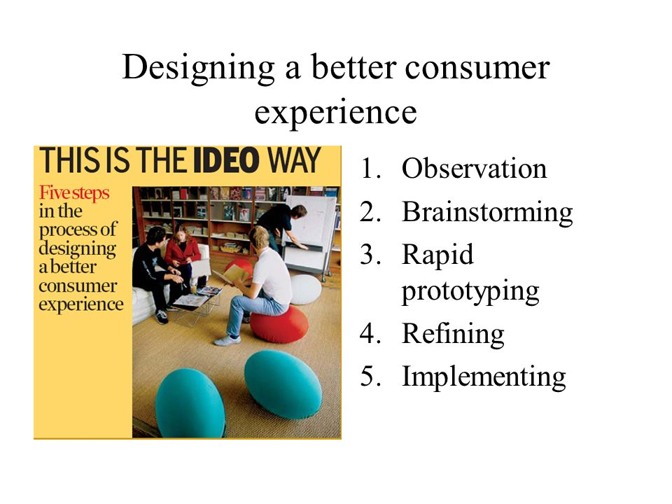 Designing a better consumer experience