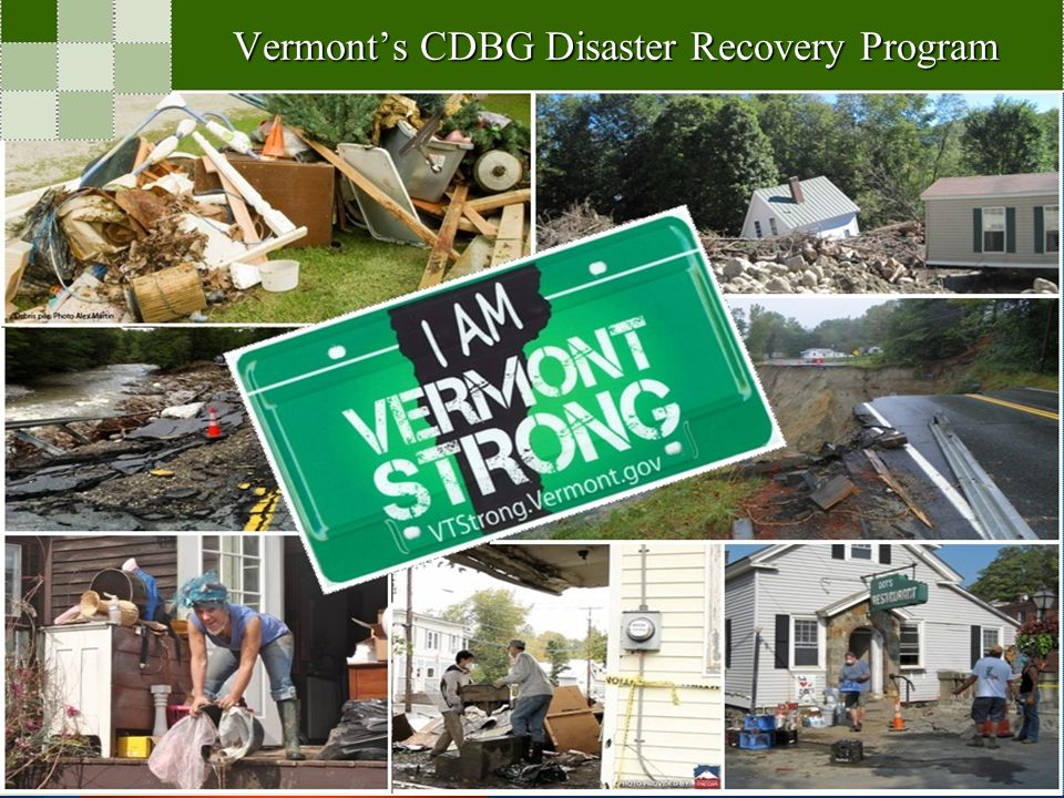 Vermont's CDBG Disaster Recovery Program