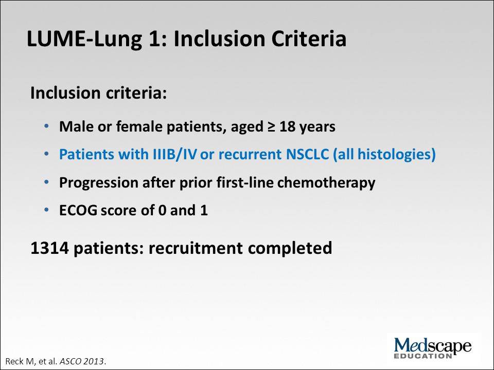 LUME-Lung 1: Inclusion Criteria