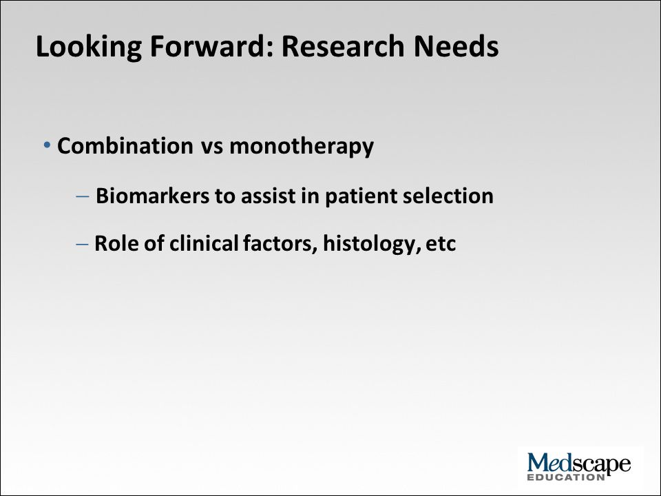 Looking Forward: Research Needs