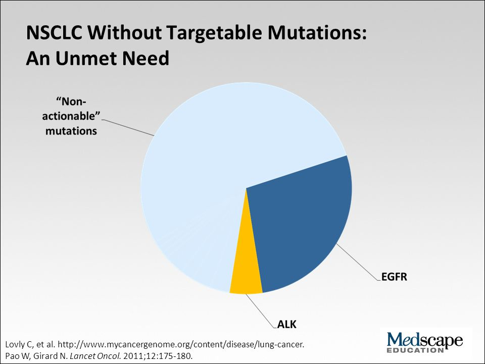 NSCLC Without Targetable Mutations: An Unmet Need