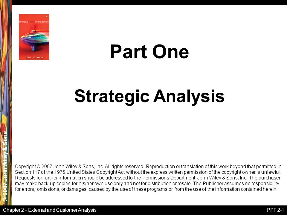 Part One Strategic Analysis