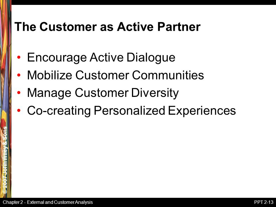 The Customer as Active Partner