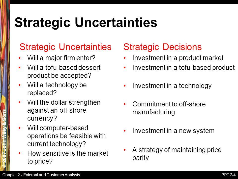 Strategic Uncertainties