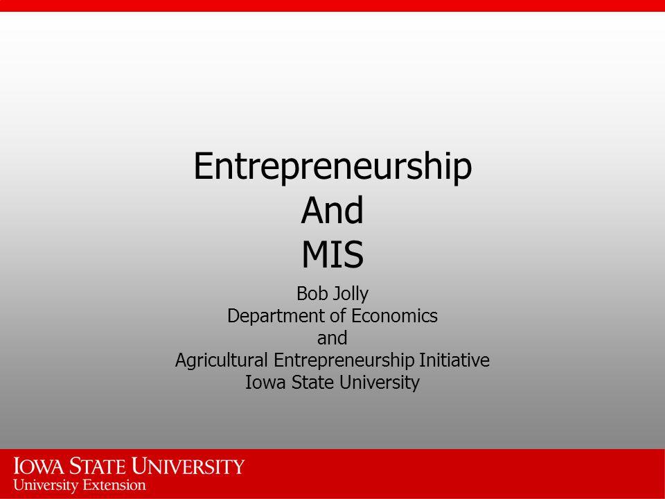 Entrepreneurship And MIS