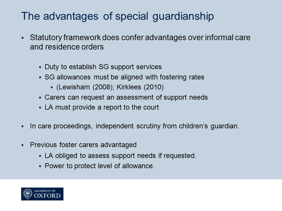 The advantages of special guardianship