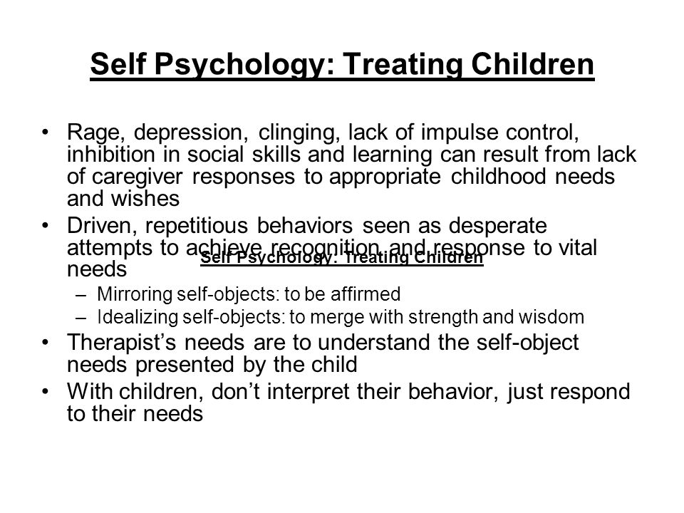 Self Psychology: Treating Children
