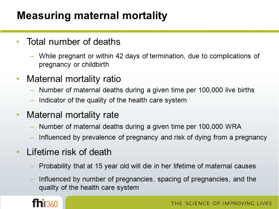 Measuring maternal mortality