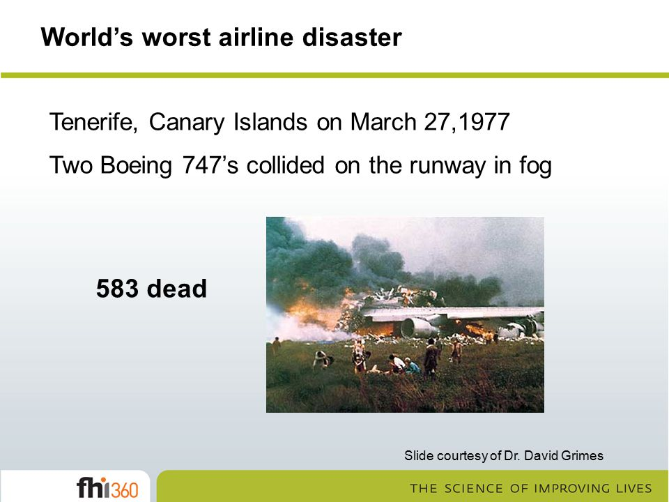 World's worst airline disaster
