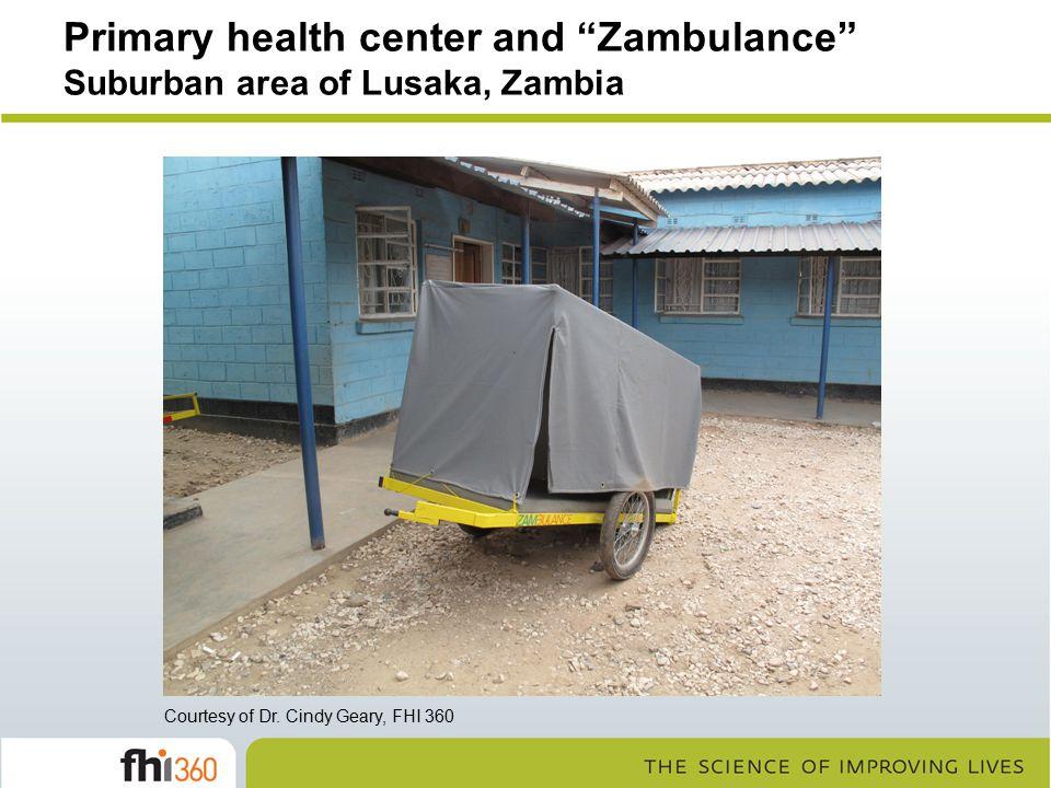 Primary health center and Zambulance Suburban area of Lusaka, Zambia