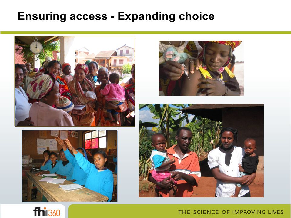 Ensuring access - Expanding choice
