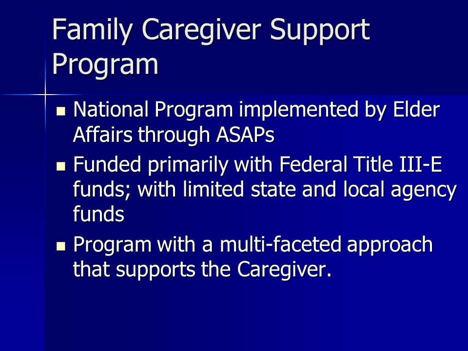 Family Caregiver Support Program