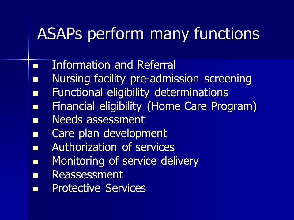 ASAPs perform many functions