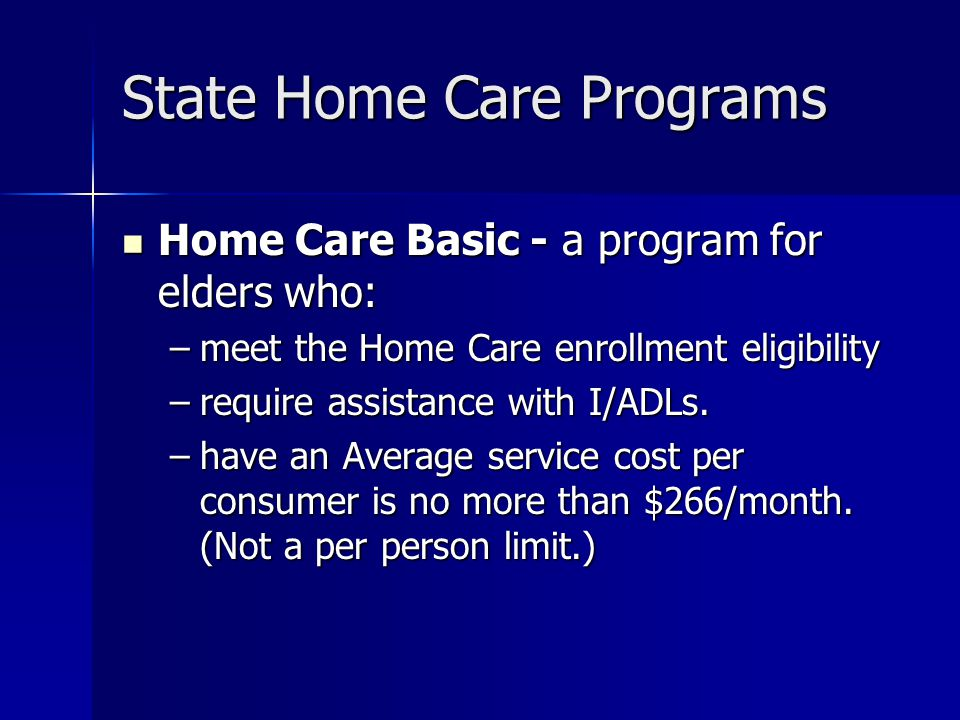 State Home Care Programs