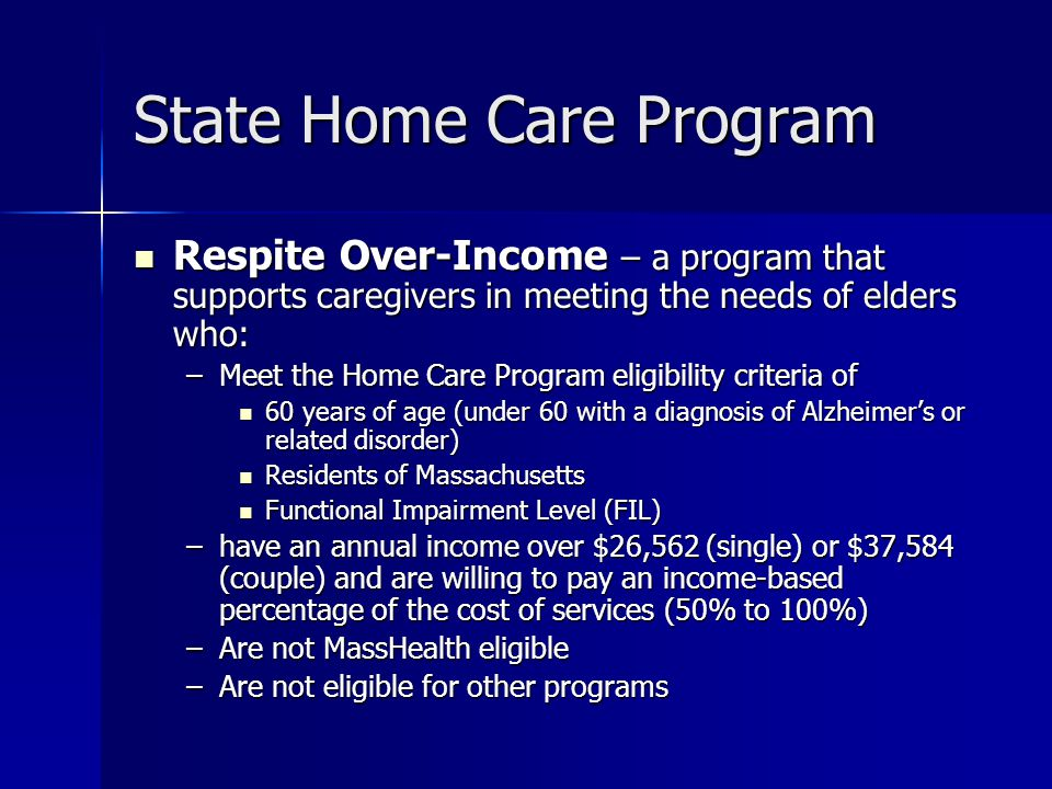 State Home Care Program