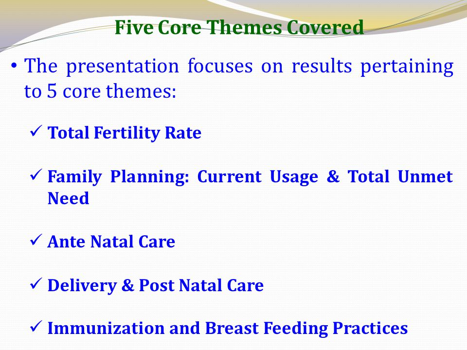 Five Core Themes Covered