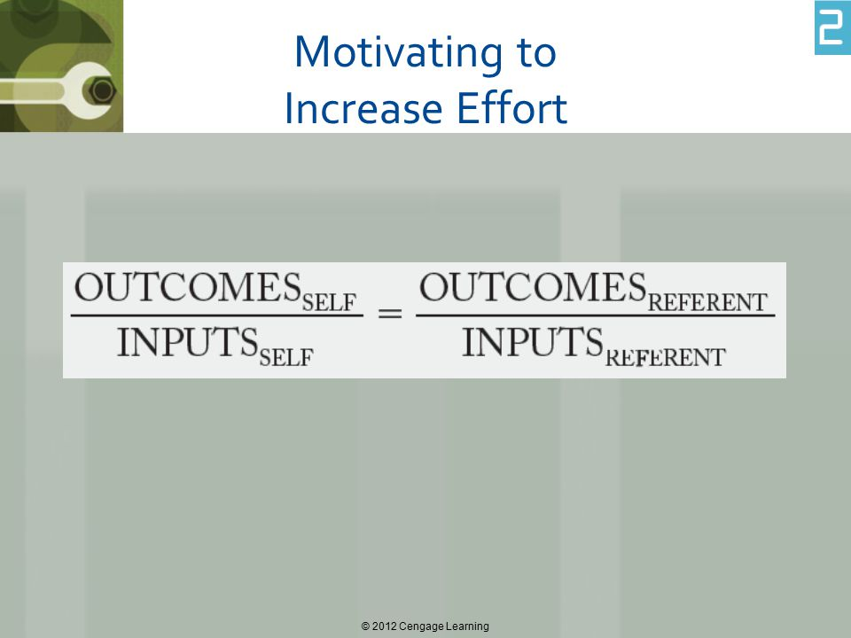 Motivating to Increase Effort