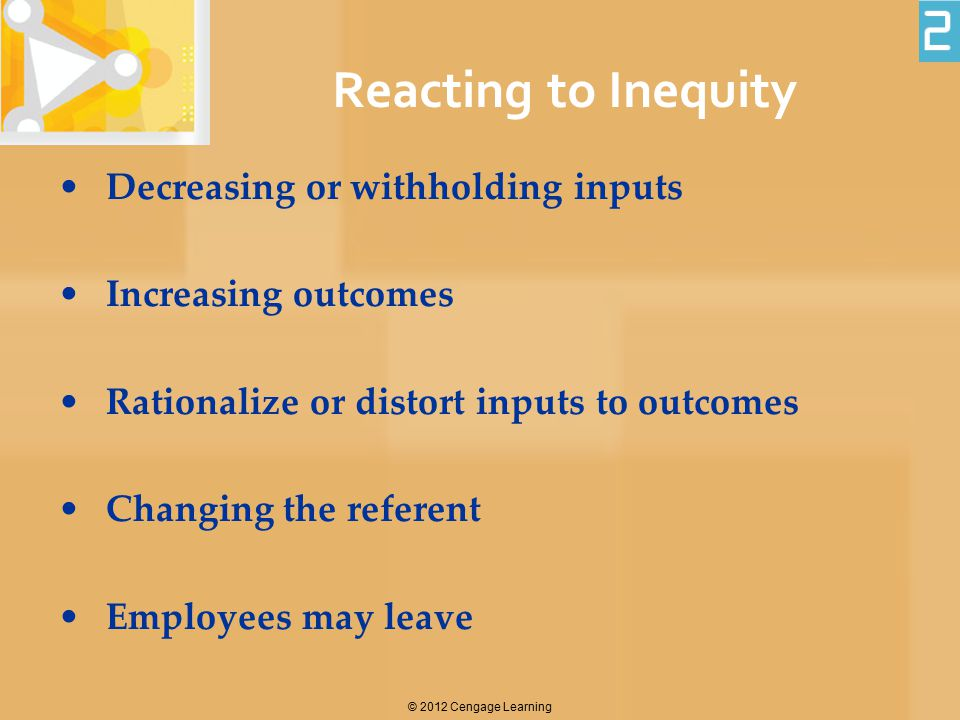 Reacting to Inequity Decreasing or withholding inputs