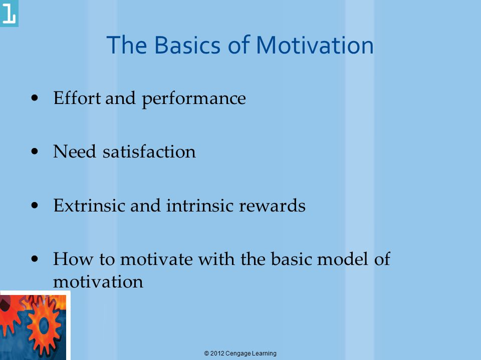 The Basics of Motivation