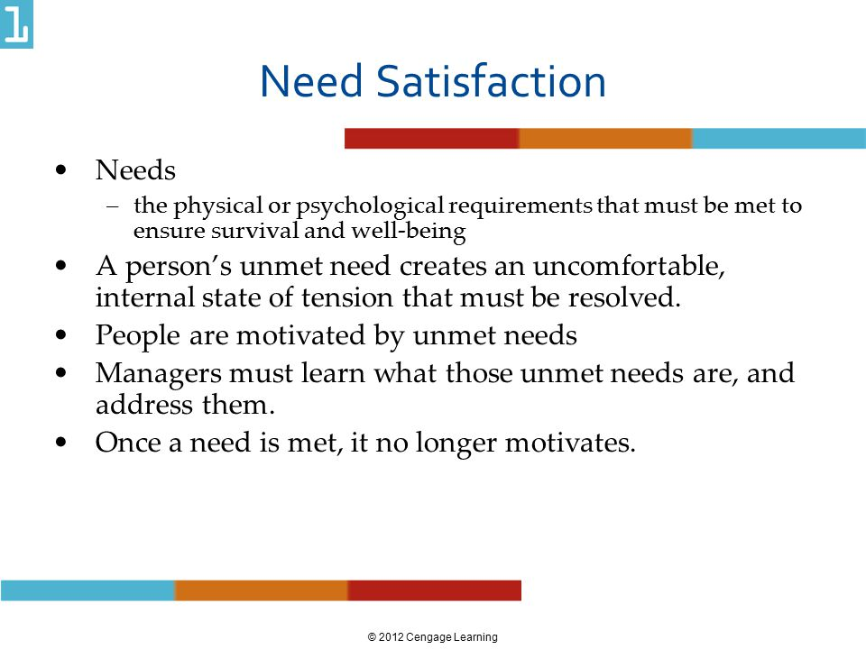 Need Satisfaction Needs