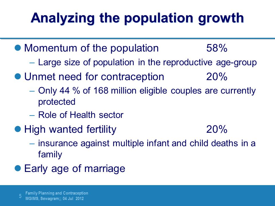 Analyzing the population growth