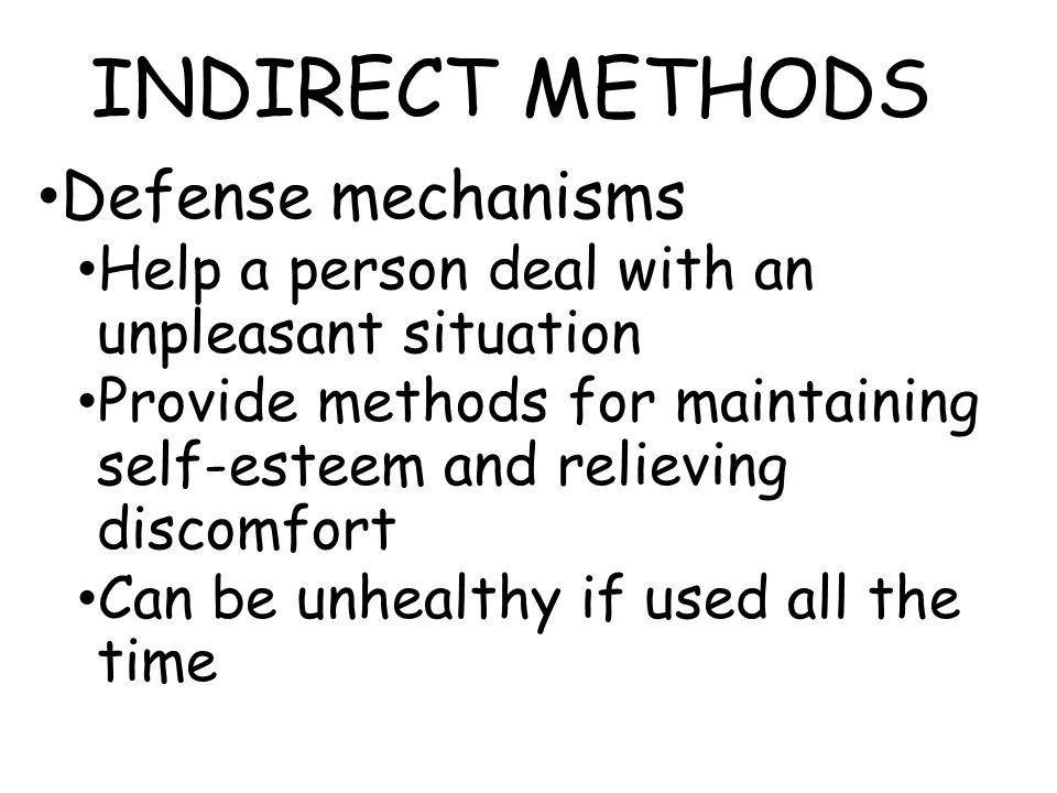 INDIRECT METHODS Defense mechanisms