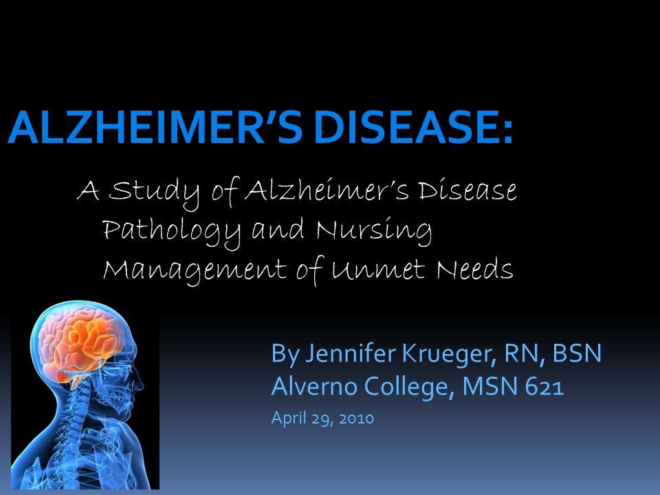 case study analysis alzheimer disease