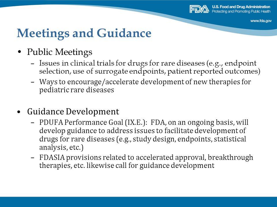 Meetings and Guidance Public Meetings Guidance Development