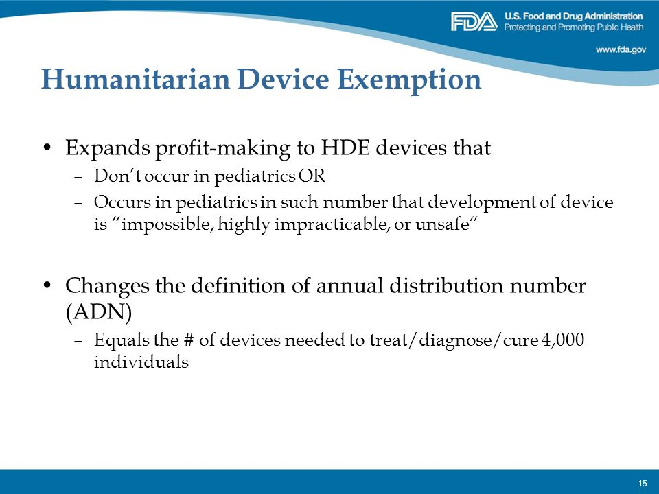Humanitarian Device Exemption