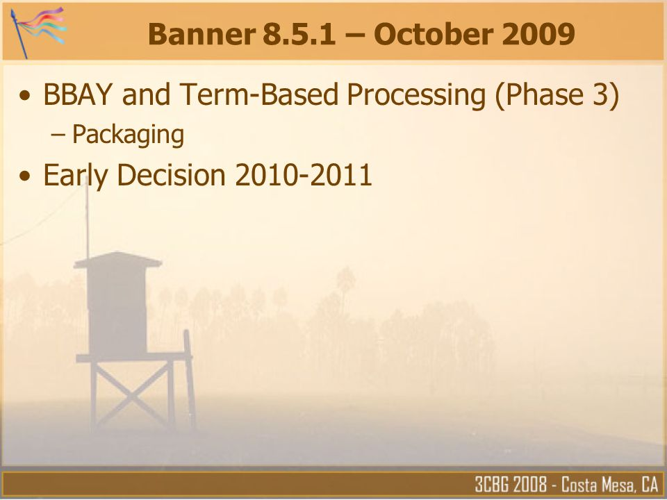 BBAY and Term-Based Processing (Phase 3) Early Decision 2010-2011