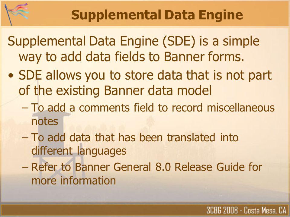 Supplemental Data Engine