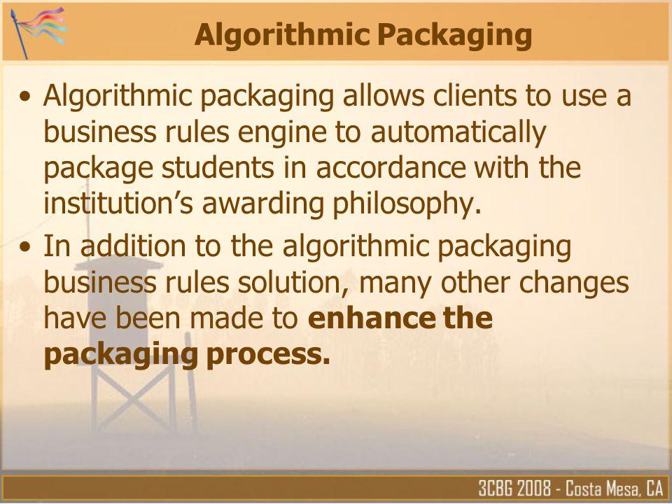 Algorithmic Packaging