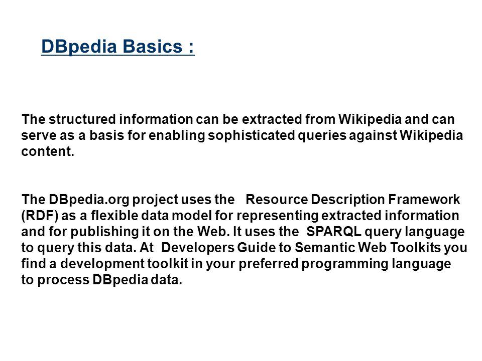 DBpedia Basics :