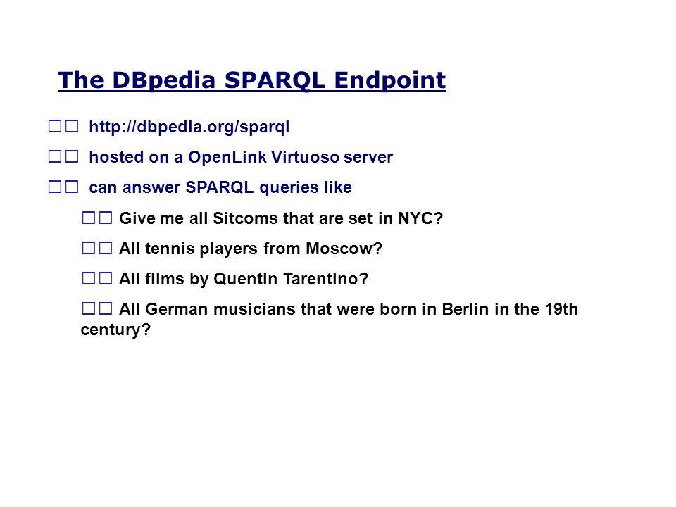 The DBpedia SPARQL Endpoint