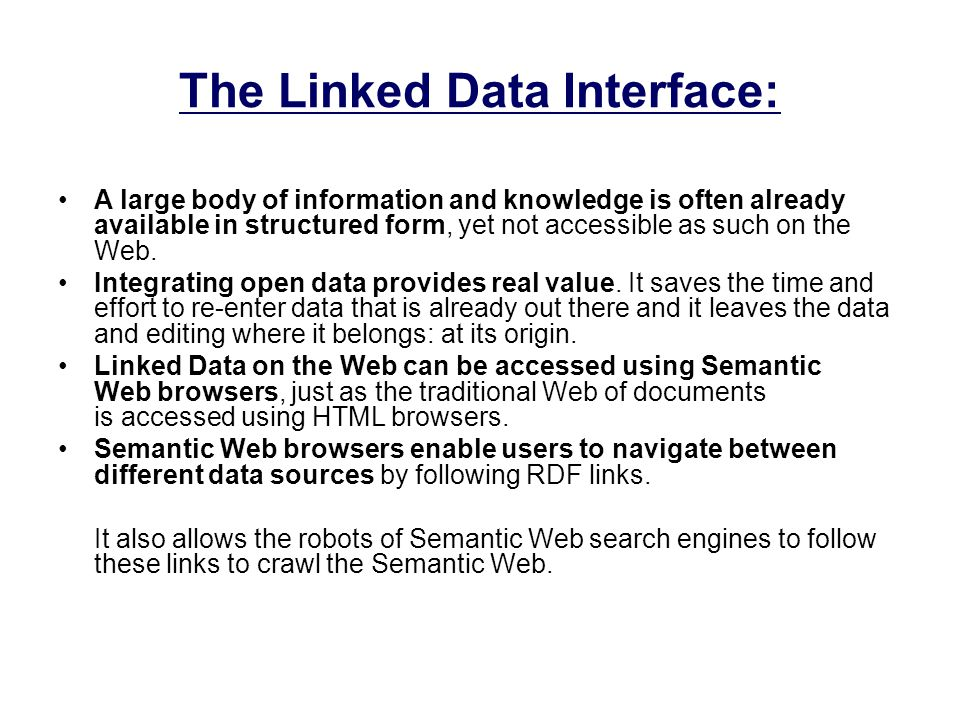 The Linked Data Interface: