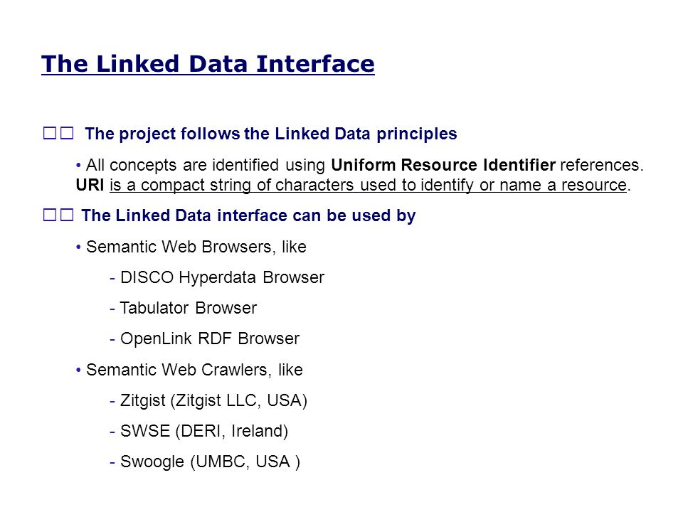 The Linked Data Interface