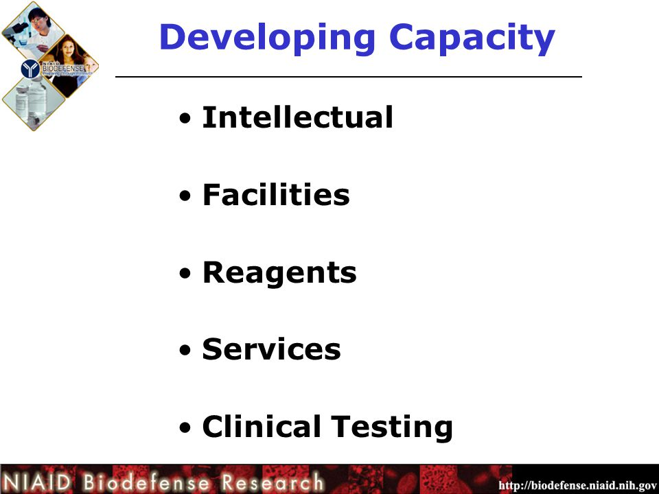 Developing Capacity Intellectual Facilities Reagents Services