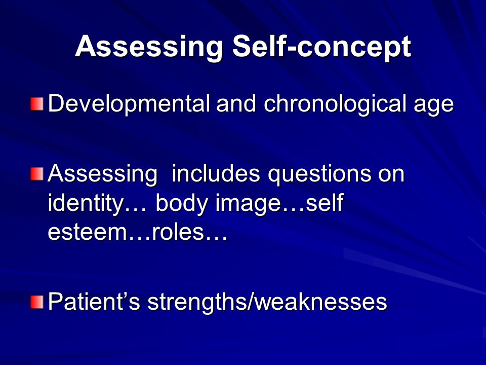 Assessing Self-concept