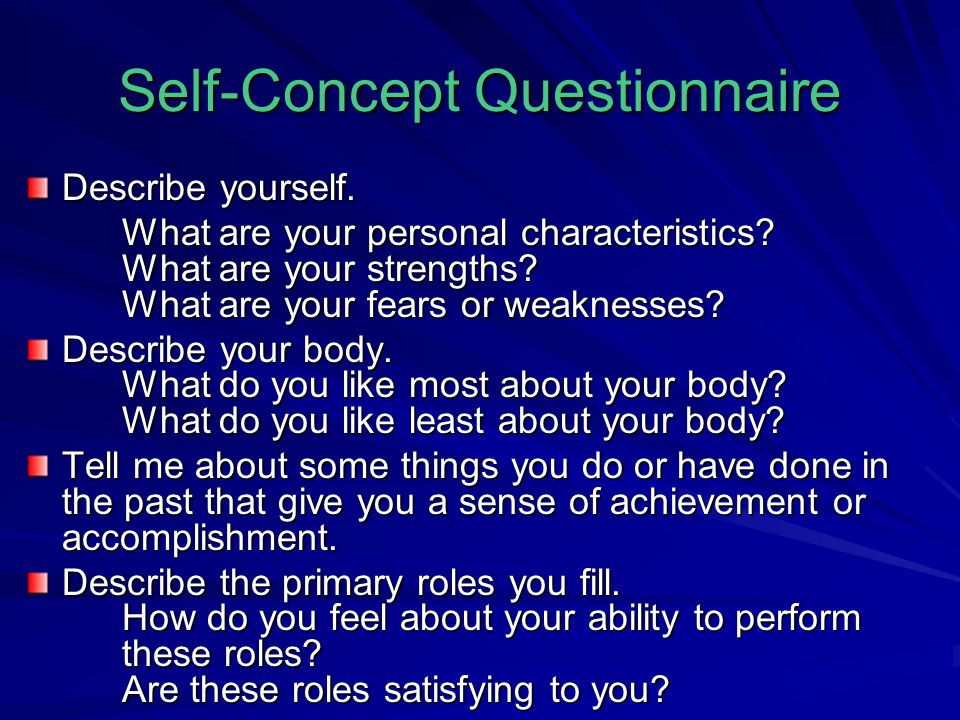 Self-Concept Questionnaire