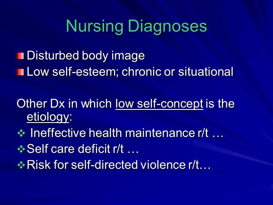 Nursing Diagnoses Disturbed body image