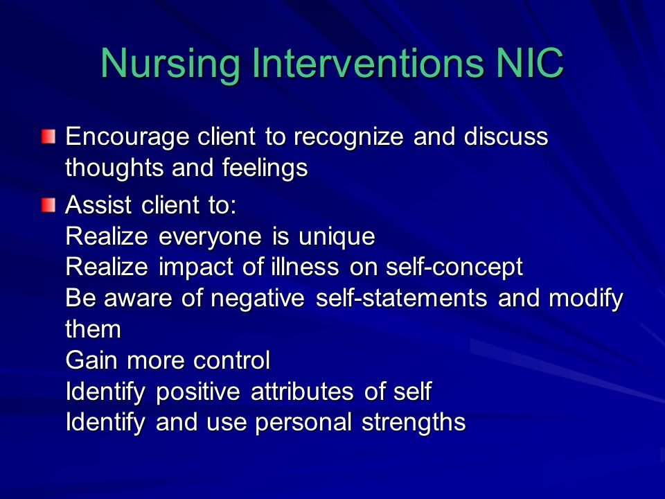 Nursing Interventions NIC