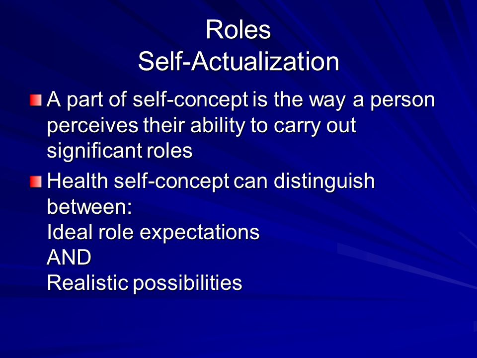Roles Self-Actualization