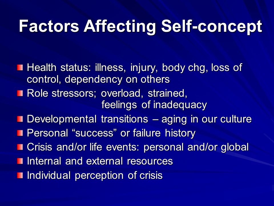 Factors Affecting Self-concept