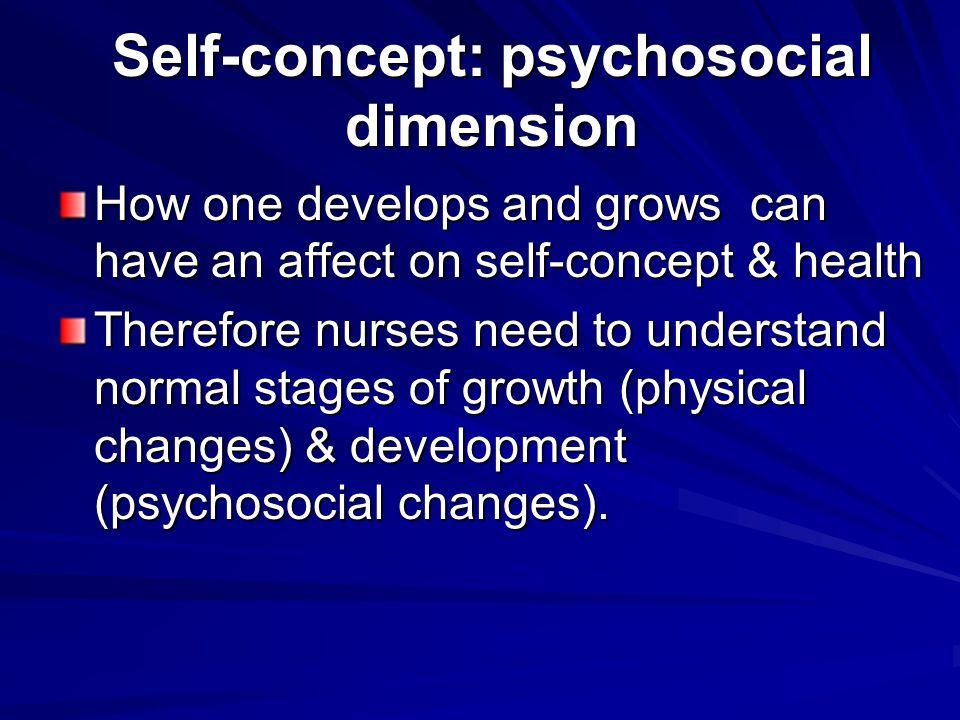 Self-concept: psychosocial dimension