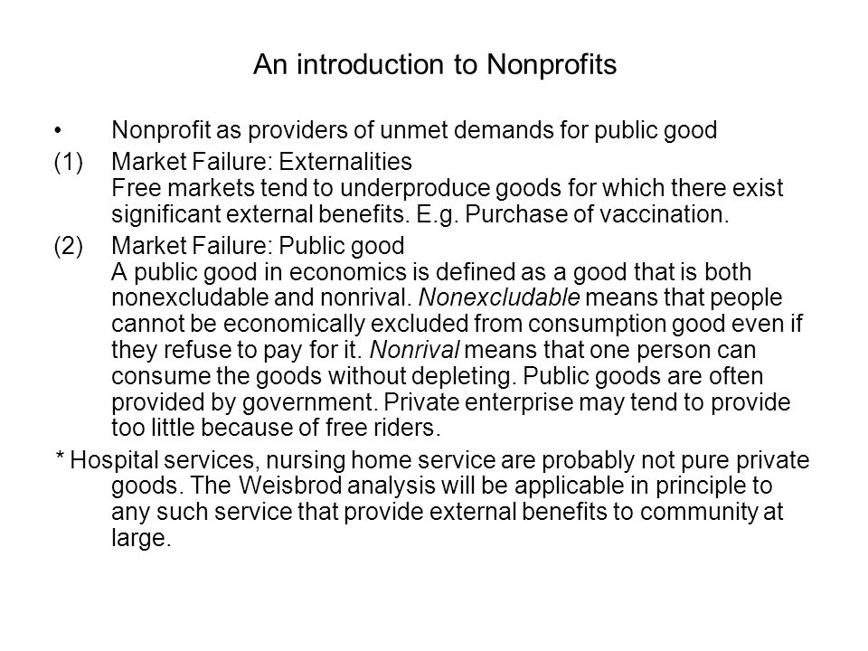 An introduction to Nonprofits