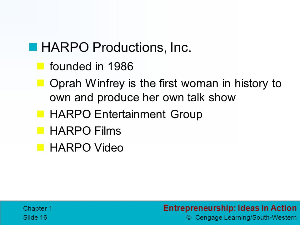 HARPO Productions, Inc. founded in 1986