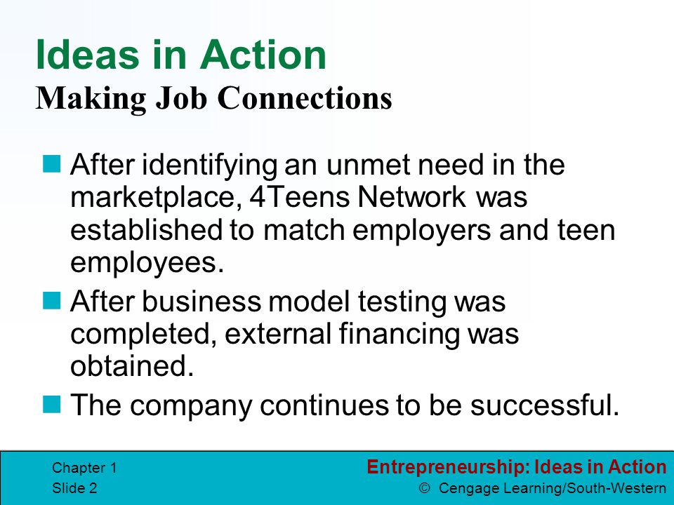 Ideas in Action Making Job Connections